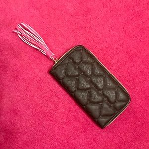 Betsey Johnson Bags - Betsey Johnson Black Heart Quilted Wallet NWOT